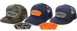 photos of hats patches and shirts from Philip Morley Store