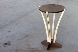 full front view of Bloom Side Table custom wood fine furniture